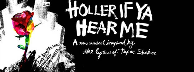 HOLLER IF YA HEAR ME on Broadway in New York is new musical inspired by the lyrics of Tupac Shakur. Book your tickets for HOLLER IF YA HEAR ME in New York here!