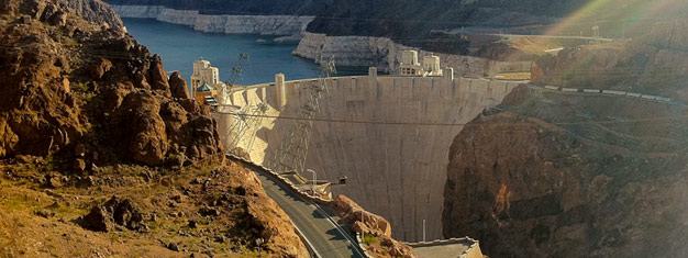 Join us for a tour to the Hoover Dam and Lake Mead. The full day tour includes a lunch buffet and a visit to a chocolate factory. Book your tour here!
