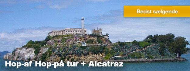 Denne 4-i-een Hop-af Hop-på pakke er den ultimative sightseeing oplevelse i San Francisco. Pakken inkluderer også en tur til Alcatraz Island. Køb online!