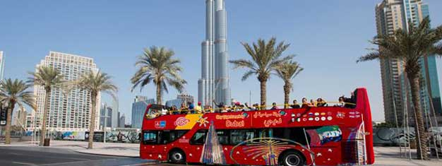 Book your Hop-On Hop-Off tickets from home and you're all set to start exploring Dubai and all of its sights. Free audio guides! Children under 5 are free!