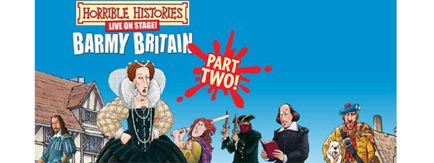 Så er tiden kommet for HORRIBLE HISTORIES - BARMY BRITAIN- Part 2 i London! Billette til HORRIBLE HISTORIES - BARMY BRITAIN- Part 2 købes her.