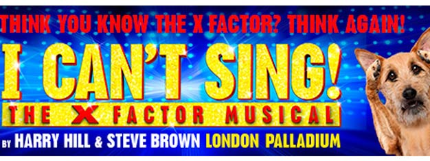 Biljetter till I Can't Sing! The X Factor Musical i London! Harry Hills X Factor musikal producerad av Simon Cowell. Boka biljett till I Can't Sing! i London!