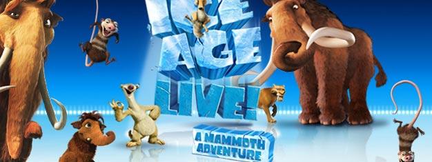 Ice Age Live! Et Mammut eventyr på Wembley Arena i London er et must see for alle Ice Age filmfans. Billetter til Ice Age Live! i London kan købes her!