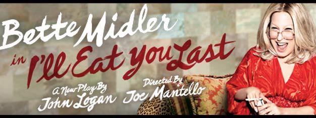 Do not miss Divine Miss Bette Midler in the play 'I'll Eat You Last: A Chat with Sue Mengers' on Broadway in New York. Book your tickets here!