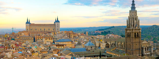 Enjoy a full-day tour Toledo from Madrid. Transport incl. Visit a mosque, church & synagogue. Enjoy wine tasting in Bargas. Book your tickets online!