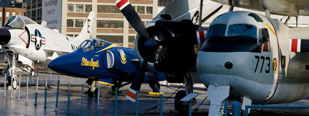 Visit The Intrepid Sea, Air & Space Museum - a battle-hardened aircraft carrier. It served in WW2 and the Vietnam War. Buy your tickets online!