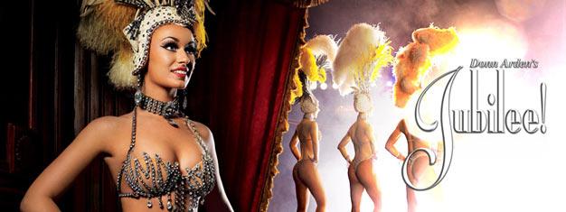 Non perdete il seducente spettacolo Jubilee! a Las Vegas durante la vostra visita. Jubilee! è lo spettacolo piùoriginale e in vero stileLas Vegas . Compra ibiglietti per Jubilee! a Las Vegas qui!