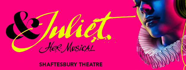 Experience a modern musical version of a Shakespeare play in London: & Juliet. Pick your own seats by booking your tickets at home today.