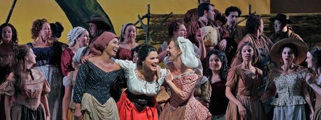 L'Elisir d'Amore (Kärleksdrycken) ges på Metropolitan Opera i New York. Boka dina biljetter till Donizettis komiska opera här!
