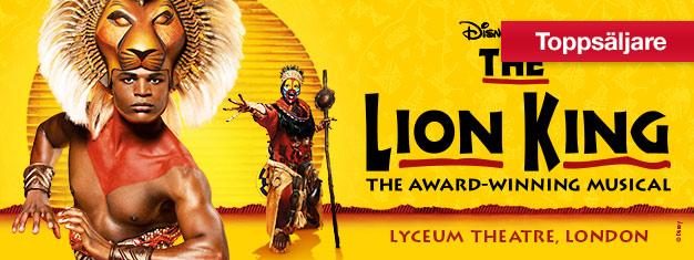 Lejonkungen, med musik av Elton John, är en av de finaste musikaler som någonsin gjorts. Köp biljetter till familjemusikalen The Lion King i London här!
