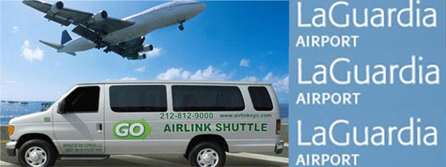 Undgå dyre taxature eller kompliceret offentlig transport. Bestil i stedet din transfer fra LaGuardia til dit hotel på Manhattan med en af vores minibusser.
