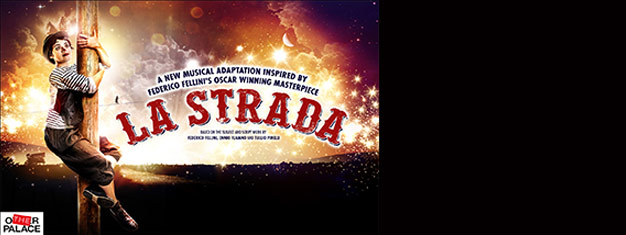 A visually stunning new stage adaptation of Fellini's classic film from 1957 - La Strada. Book tickets for this new musical version of La Strada here!