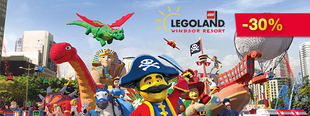 Buy tickets to Legoland Windsor Resort near London here. Play your part at Legoland near London with over 55 rides and attractions