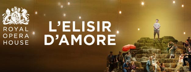 L'elisir d'amore the great opera is on at Royal Opera House in London. Tickets to L'elisir d'amore at Royal Opera House in London can be booked here!