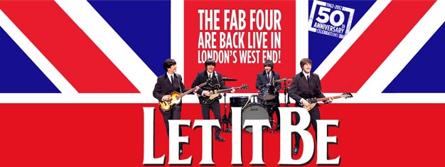 Let It Be , Musikalen feirer 50-årsjubileet til verdens mest vellykkede rock 'n' roll band, The Beatles, spilles i Londons West End! Let It Be billetter her!