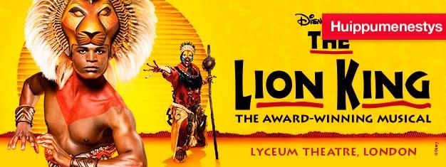 Lion King Lontoossa on Disneyn hämmästyttävän hieno koko perheen musikaali, jonka musiikista vastaa Elton John. Osta liput Lion Kingiin Lontoossa täältä!