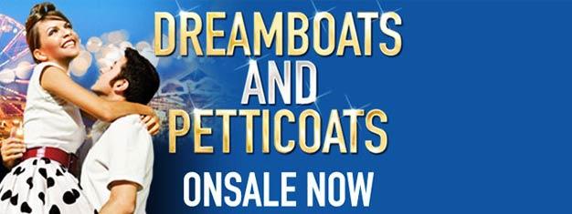 Dreamboats and Petticoats er en ny musical i London. Dreamboats and Petticoats i London fortæller historien om musikerne Norman,Bobby og Laura. Billetter købes her!