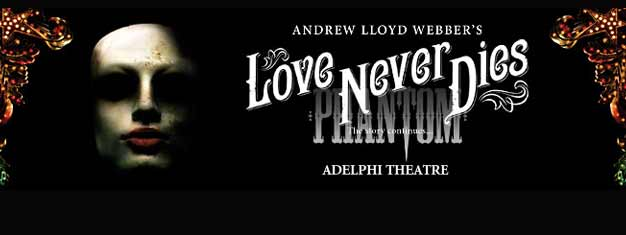 Andrew Lloyd Webber's Love Never Dies i London er fortsættelsen på Phantom of the Opera. Billetter til Love Never Dies i London købes her - med rabat!