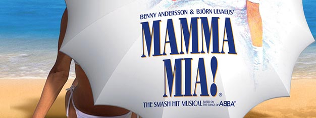Mamma Mia the Musical at Novello theatre in London with songs by ABBA. Buy your theatre tickets for Mamma Mia the Musical in London here!