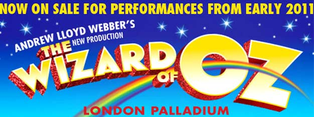 Oplev den magiske musical The Wizard of Oz i London! Andrew Lloyd Webbers nyeste opsætning i London. Køb billetter til The Wizard of Oz i London her!