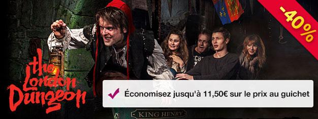 Visitez le Donjon de Londres et découvrez l'histoire terrifiante de Londres avec Jack l'Éventreur, Le Grand Feu de Londres et bien plus encore!