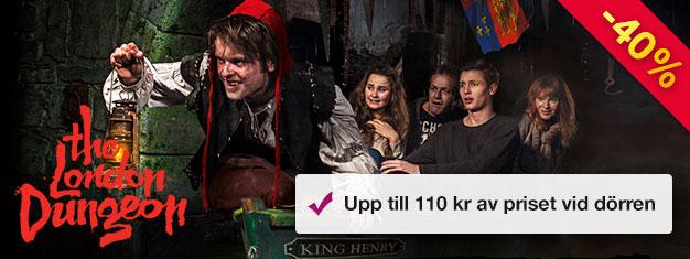 Besök London Dungeon och upplev Londons skrämmande och fasansfulla historia, med Jack the Ripper, den stora branden och mycket mer! Boka biljetter online!