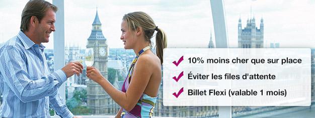 Économisez 10% en réservant votre tour London Eye avec champagne ici! Passez la file d'attente au London Eye et profitez d'un verre de champagne! Réservation en ligne!