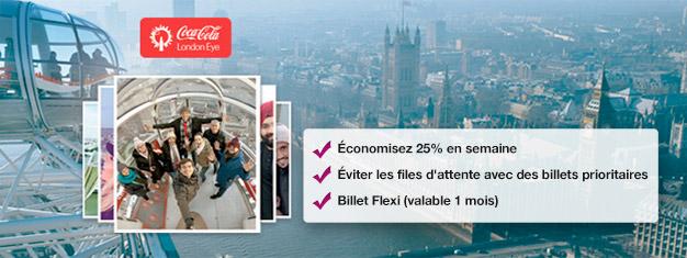 Visitez London Eye! Réservez des billets Fast Track depuis chez vous, gagnez du temps et économisez jusqu'à 25% par rapport au prix du billet sur place au London Eye. Achetez en ligne!