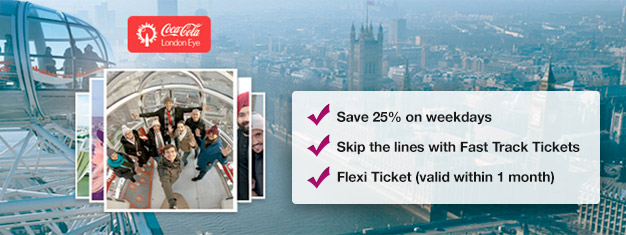 Adult tickets to the London Eye, overlooking London from the banks of the Thames. Order your tickets delivered to your email today.