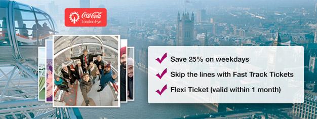 Lístky na London Eye, podívejte se na Londýn z břehů Temže. Objednejte si lístky, obdržíte je e-mailem ještě dnes.