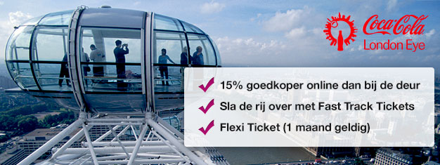 Verspil geen tijd in de wachtrij en boek uw Skip the line tickets voor de populaire attractie London Eye online en bespaar 15% op uw tickets! Boek nu!