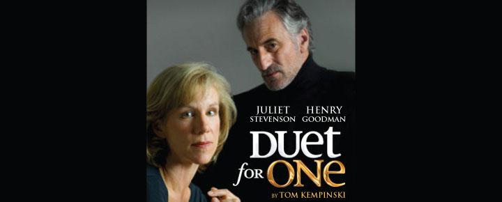 Duet For One i London, spiller på Vaudeville Theatre og er et gribende og bevægende psykologisk drama. Billetter til Duet for One i London købes her!
