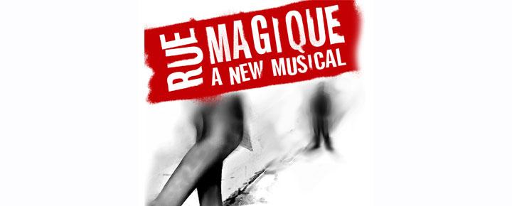 Verdenspremiere på en ny musical i London, Rue Magique, om det vanskellige forhold mellem en prustitueret fra South London og hendes datter på 13 år.