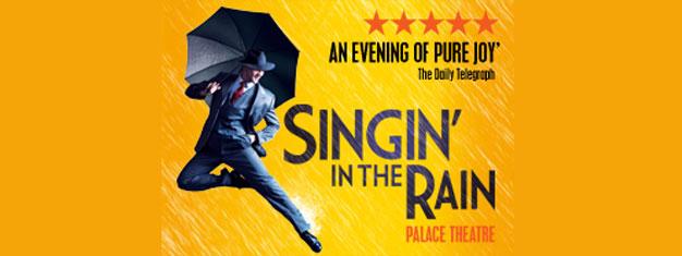 Singin´ in the Rain ab 2012 in London. Singin´ in the Rain ist ein erfrischendes Musical und absolut ersehnenswert  - gleich jeden Wetters!  Tickets können Sie hier kaufen!