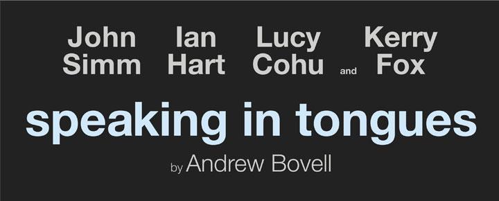 Dramat<strong>Speaking in Tongues</strong> har John Simm (känd från Life On Mars, State Of Play) i huvudrollen. Biljetter till Speaking in Tongues i London köper du här!