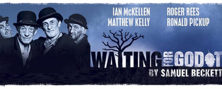"""Ian McKellen en Ronald Pickup hebben de hoofdrollen in het toneelstuk """"Waiting For Godot"""" in Londen, gemaakt over Samuel Becket´s zeer geprezen roman."""
