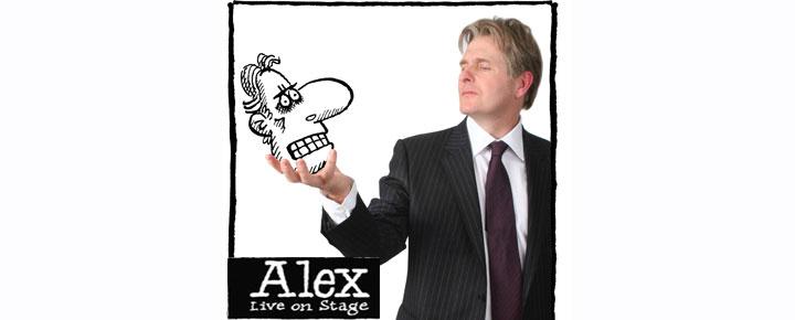 Slipp lattermusklene fri! Alex er tilbake på Leicester Square Theatre! Robert Bathurst spiller den hysterisk morsomme bankmannen Alex i London. Bestill billettene dine her!