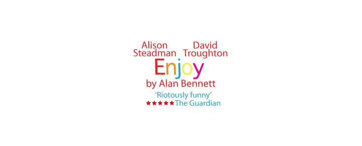 Alison Steadman og David Troughton  har hovedrollerne i Alan Bennett's skuespil Enjoy.