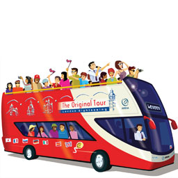 Hop-On Hop-Off Sightseeing bus London. LontoonLiput.fi