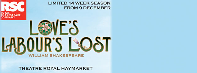 Love's Labour's Lost will transfer to the Theatre Royal Haymarket in London for a limited season. Get your tickets here!