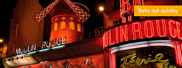 Experience the world-renowned cabaret at the Moulin Rouge. Tickets sell out quickly for this incredibly popular show, so book your tickets well in advance!