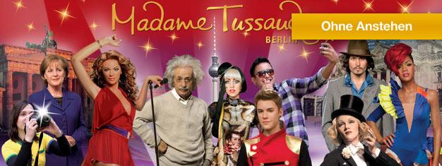 Umgehen Sie die Warteschlange vor Madame Tussauds Berlin und kommen Sie Ihren Lieblingsstars so richtig nah. Buchen Sie Ihre Tickets für Madame Tussauds Berlin hier!