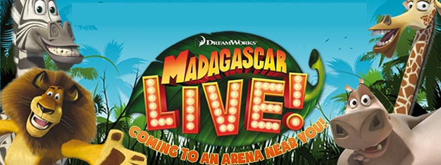 Enjoy Madagascar Live on stage at Wembley Arena in London. Tickets for Dreamworks Madagascar Live in London can be booked here!