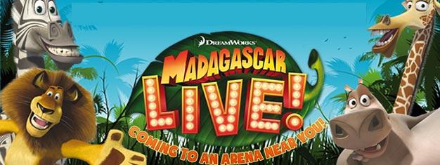 Nyd Madagascar Live på Wembley Arena i London. Billetter til Dreamwork's Madagascar Live i London kan med fordel købes her!