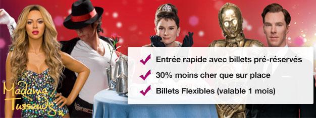 Évitez la queue au Musée de cire de Madame Tussauds à Londres avec nos billets prépayés. Économisez 30% sur vos billets! Amusant pour toute la famille! Achetez en ligne!