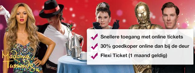 Sla de wachtrij voor Madame Tussauds wax museum over met vooraf geboekte tickets. Bespaar daarnaast nog eens 30%! Plezier voor de gehele familie gegarandeerd!