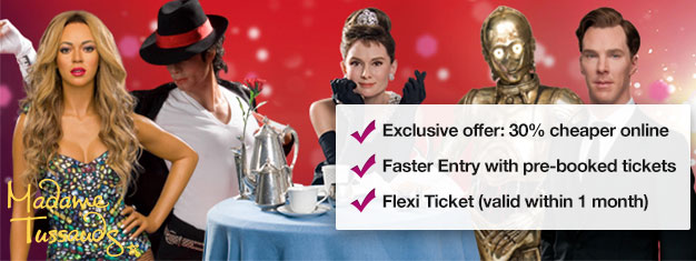 Skip the line to London's Madame Tussauds wax museum with prebooked tickets. Save 30% on your tickets! Fun for the whole family! Buy online!