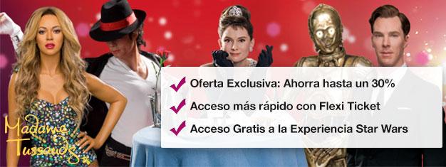Salta las colas al museo de cera Madame Tussauds de Londres con entradas anticipadas. Ahorra un 30% en las entradas! Diversión para toda la familia! Compra en línea!