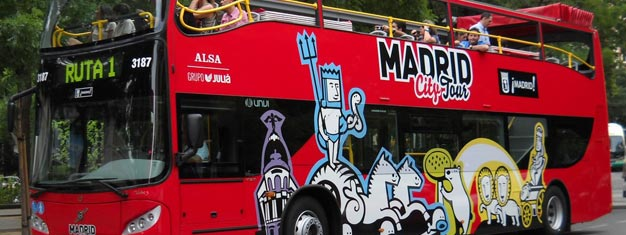 Hop-on Hop-off sightseeing in Madrid is a great way to see Madrid, in your own pace. Hop-on Hop-off sightseeing in Madrid can be booked here!