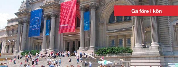 Besök ett av världens största och mest imponerande konstmuseer Metropolitan Museum of Art (The Met) i New York City. Boka dina biljetter till Met här!